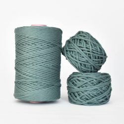 Creadoodle Giza Collection, egyptian cotton for high end fiber arts as macrame and weaving, 5 mm 1-ply string mystic lake