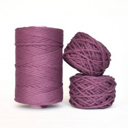 Creadoodle Giza Collection, egyptian cotton for high end fiber arts as macrame and weaving, 5 mm 1-ply string flower powder