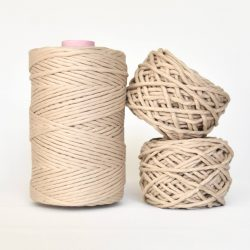 Creadoodle Giza Collection, egyptian cotton for high end fiber arts as macrame and weaving, 5 mm 1-ply string luxurious silk