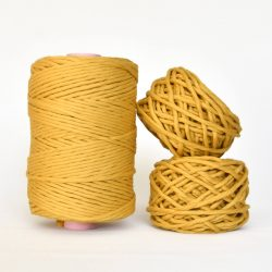 Creadoodle Giza Collection, egyptian cotton for high end fiber arts as macrame and weaving, 5 mm 1-ply string sun kissed